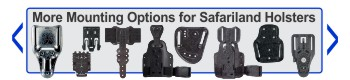 Vesatile mounting options for Safariland Holsters - click for more information