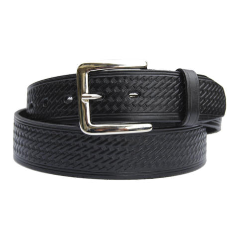 1.5-inch Basketweave Garrison Belt - Rounded Buckle