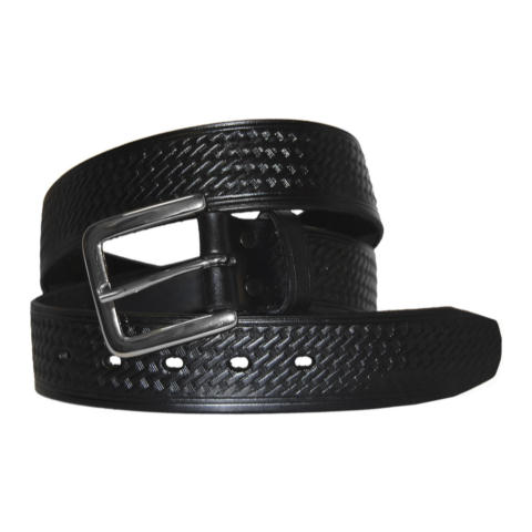 1.75-inch Basketweave Garrison Belt - Rounded Buckle - Larger Sizes