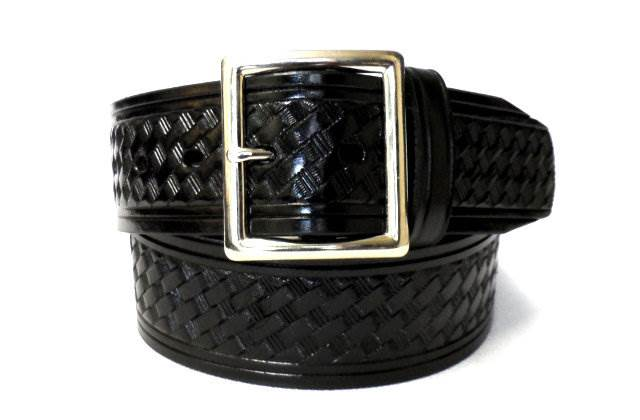 1.75-inch Basketweave Garrison Belt - Square Buckle