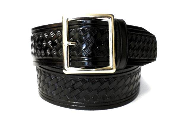 1.75-inch Basketweave Garrison Belt - Square Buckle - Larger Sizes