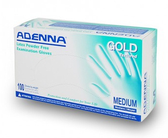 Adenna Exam Gloves - 5 mil - Gold Latex