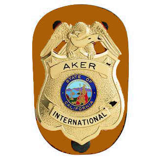 Aker Clip-On Badge Holder