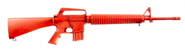 ASP Red Long Gun Training Replica - Government M16