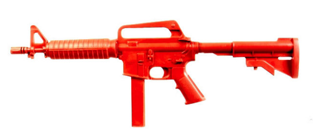 ASP Red Long Gun Training Replica - Government SMG
