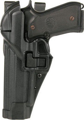 BlackHawk Serpa Level 3 Auto Lock Duty Holster - Matte Black