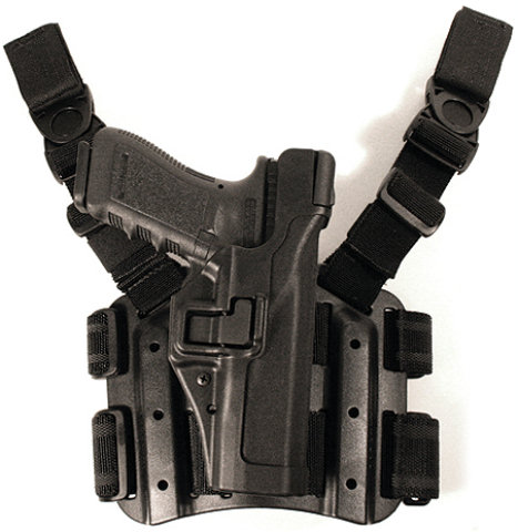 BlackHawk Serpa Level 3 Tactical Holster - Matte Black