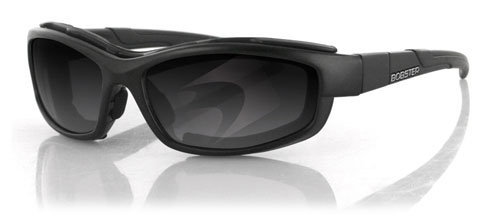 Bobster XRH Convertible Sunglasses, Matte Black Frame, 2 Frame Fronts-Smoke/Clear, ANSI Z87