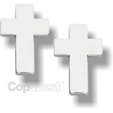 Chaplain Cross - Pair - Nickel