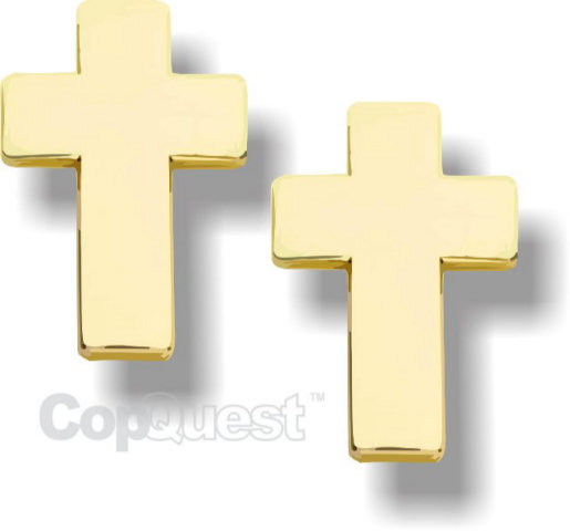 Chaplain Cross - Pair - Gold