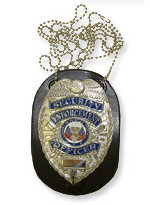 Clip-On Badge Holder with Neck Chain - Black