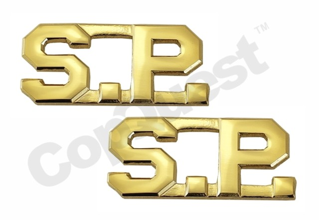 Collar Insignia - 1/2-inch high - S.P. - Gold - Pair