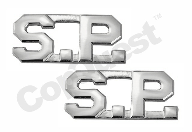 Collar Insignia - 1/2-inch high - S.P. - Nickel - Pair