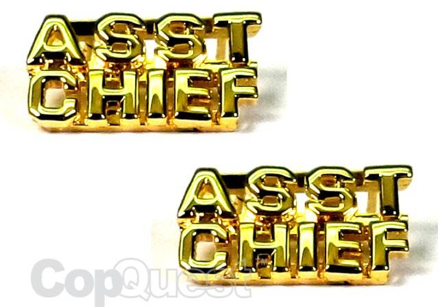 Collar Insignia - 1/4-inch high - Pair - ASST CHIEF - Gold