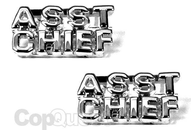 Collar Insignia - 1/4-inch high - Pair - ASST CHIEF -  Nickel