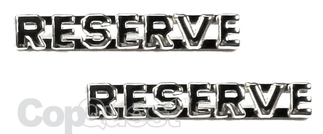 Collar Insignia - 1/4-inch high - Pair - RESERVE - Nickel