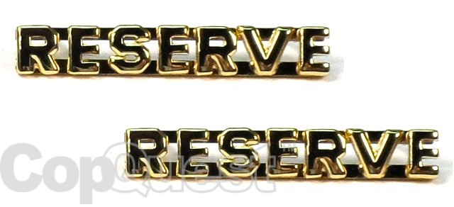 Collar Insignia - 1/4-inch high - Pair - RESERVE - Gold