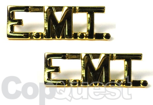 Collar Insignia - 3/8-inch high - Pair - EMT - Gold