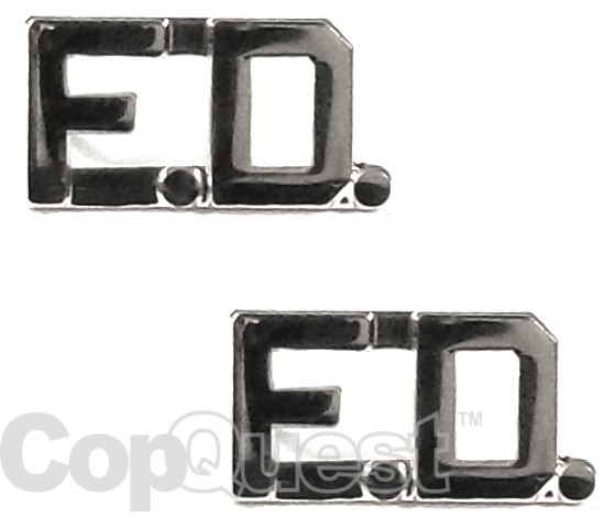 Collar Insignia - 3/8-inch high - Pair - FD - Nickel
