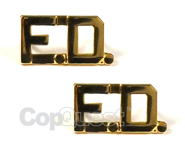 Collar Insignia - 3/8-inch high - Pair - FD - Gold