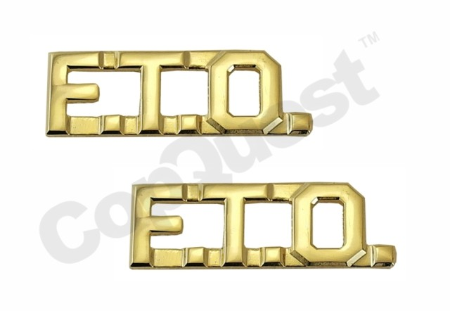 Collar Insignia - 3/8-inch high - Pair - FTO - Gold