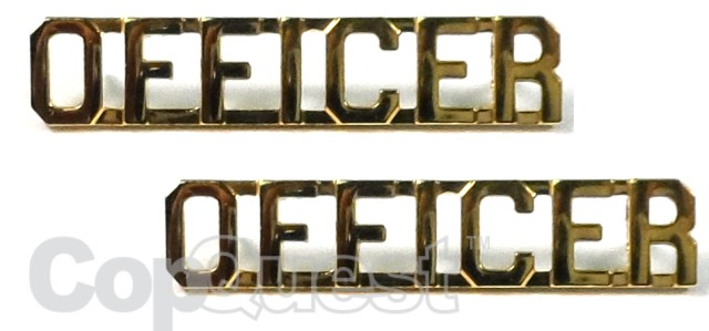 Collar Insignia - 3/8-inch high - Pair - OFFICER - Gold