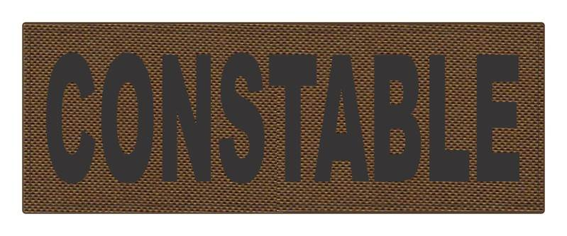 CONSTABLE ID Patch - 11x4 - Black Lettering - Coyote Backing - Hook Fabric