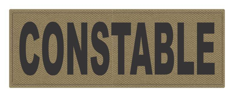 CONSTABLE ID Patch - 11x4 - Black Lettering - Tan Backing - Hook Fabric