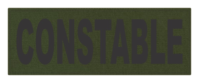 CONSTABLE ID Patch - 11x4 - Black Lettering - OD Green Backing - Hook Fabric