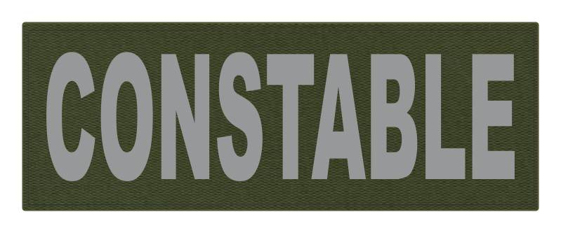 CONSTABLE ID Patch - 11x4 - Gray Lettering - OD Green Backing - Hook Fabric