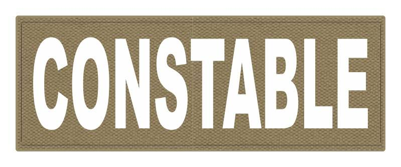 CONSTABLE ID Patch - 11x4 - White Lettering - Tan Backing - Hook Fabric
