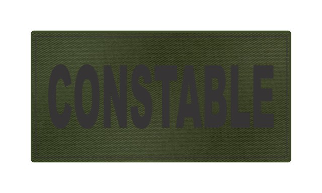 CONSTABLE ID Patch - 4x2 - Black Lettering - OD Green Backing - Hook Fabric