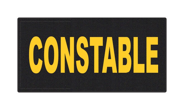 CONSTABLE ID Patch - 4x2 - Gold Lettering - Black Backing - Hook Fabric