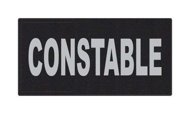 CONSTABLE ID Patch - 4x2 - Gray Lettering - Black Backing - Hook Fabric