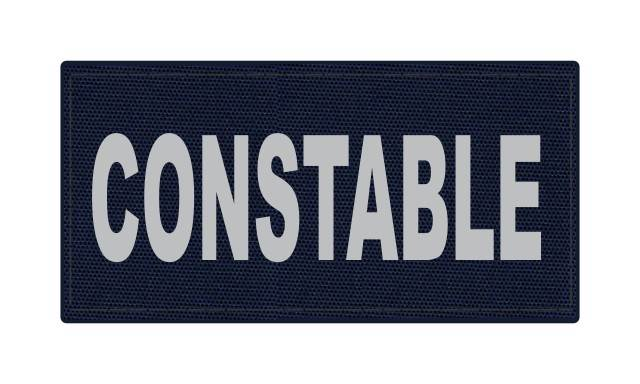 CONSTABLE ID Patch - 4x2 - Gray Lettering - Navy Backing - Hook Fabric
