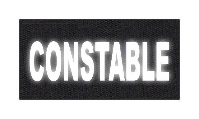 CONSTABLE ID Patch - 4x2 - Reflective White Lettering - Black Backing - Hook Fabric