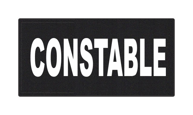 CONSTABLE ID Patch - 4x2 - White Lettering - Black Backing - Hook Fabric
