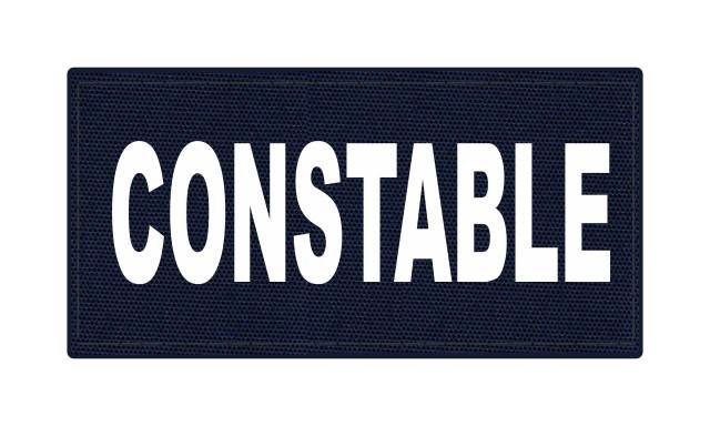 CONSTABLE ID Patch - 4x2 - White Lettering - Navy Backing - Hook Fabric