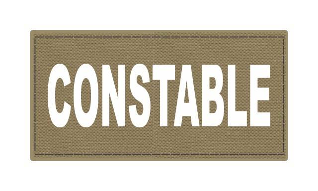 CONSTABLE ID Patch - 4x2 - White Lettering - Tan Backing - Hook Fabric