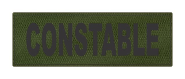CONSTABLE ID Patch - 6x2 - Black Lettering - OD Green Backing - Hook Fabric