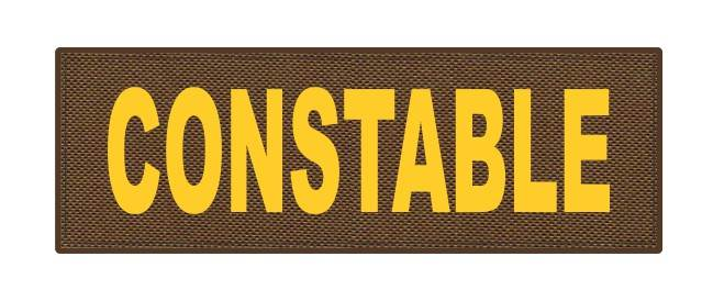 CONSTABLE ID Patch - 6x2 - Gold Lettering - Coyote Backing - Hook Fabric