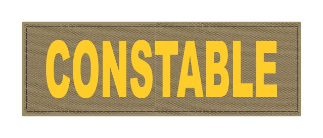 CONSTABLE ID Patch - 6x2 - Gold Lettering - Tan Backing - Hook Fabric