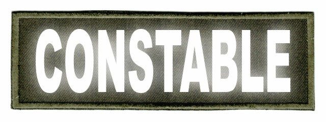 CONSTABLE ID Patch - 6x2 - Reflective Lettering - OD Green Twill Backing