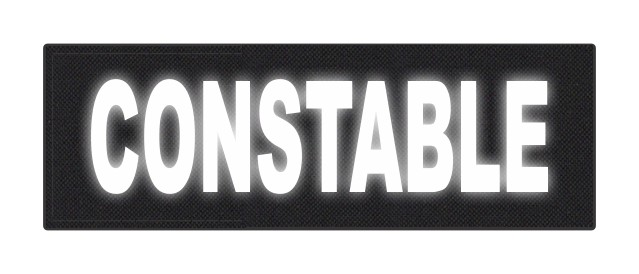 CONSTABLE ID Patch - 6x2 - Reflective White Lettering - Black Backing - Hook Fabric