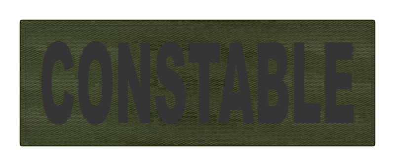 CONSTABLE ID Patch - 8.5x3.0 - Black Lettering - OD Green Backing - Hook Fabric