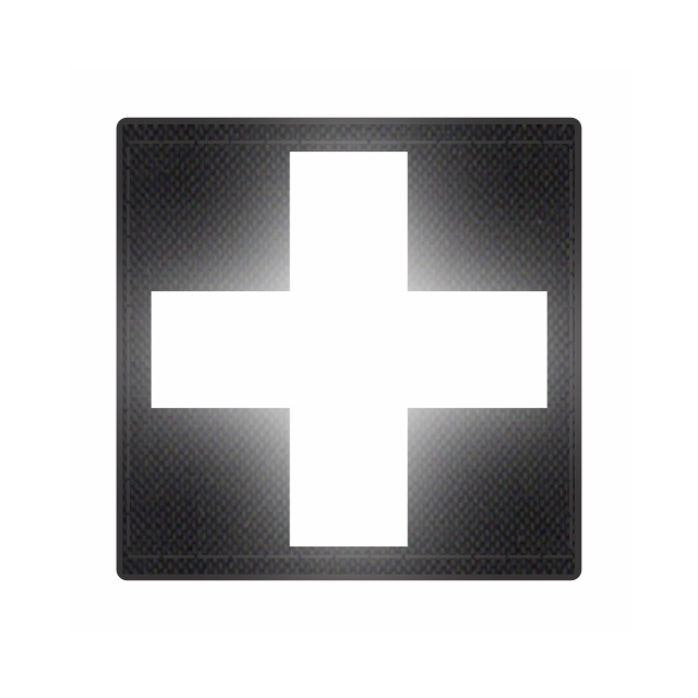 Cross Medic Patch - Reflective White - Black Backing - 2 x 2 Square