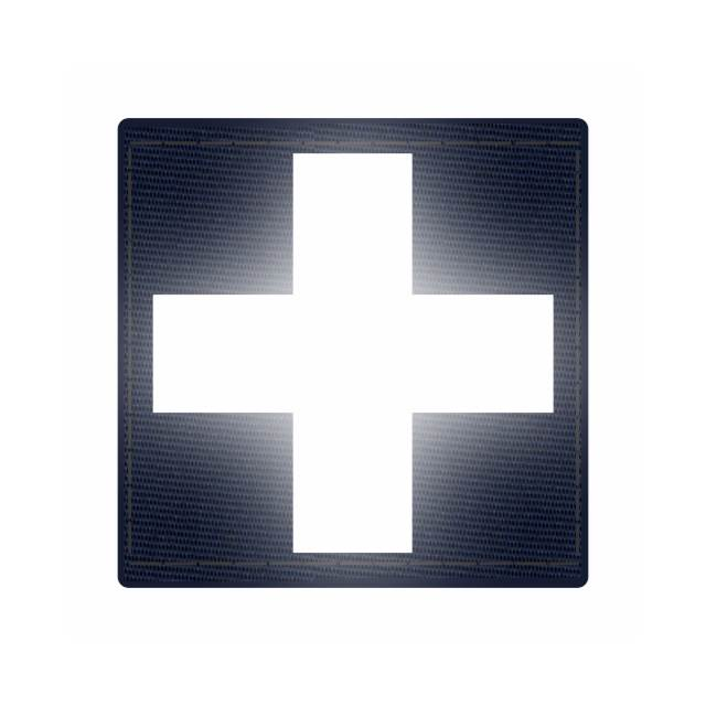 Cross Medic Patch - Reflective White - Navy Backing - 2 x 2 Square