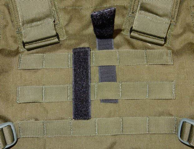 Del Molle Strips for Attaching Tactical ID Patches - for 6-inch high patches - 4-count