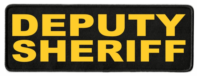 DEPUTY SHERIFF ID Patch - 11x4 - Gold Lettering - Black Twill Backing