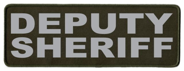DEPUTY SHERIFF ID Patch - 11x4 - Gray Lettering - OD Green Twill Backing
